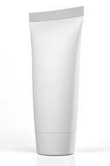 big standing blank white tube