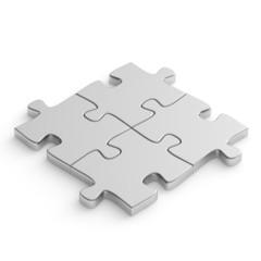 Jigsaw puzzle metal