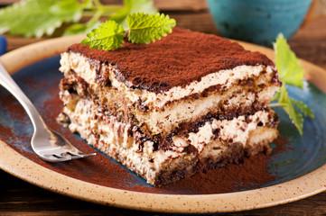 Photo sur Plexiglas Dessert Tiramisu