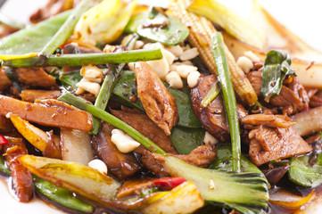 Hähnchen mit Gemüse