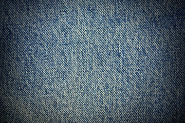 blue real textile texture, vignette background to design