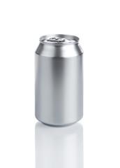 Blank aluminum soda can isolared on white background