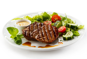 Wall Murals Ready meals Grilled steaks and vegetables