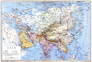 The map of Asia