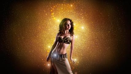 wunderschöne orientalische Tänzerin