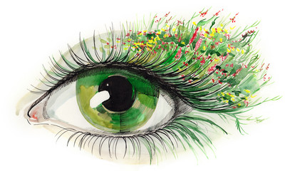green human eye (series C)