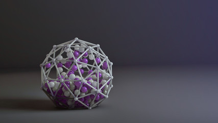Colored 3d abstraction with spheres