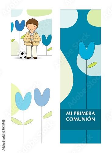 Mi primera comunion stock image and royalty free vector - Imagenes primera comunion nino ...