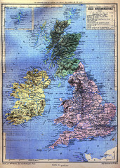 The map of British Isles