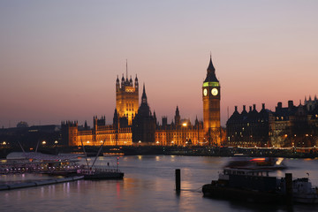 Wall Mural - Westminster Palace at Dusk