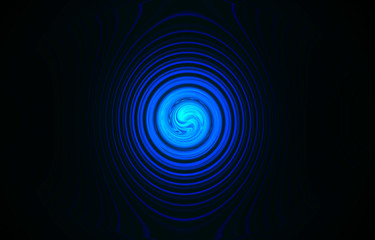 abstract blue spiral galaxy, science details