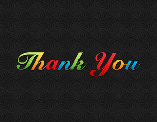 Colorful Classic Thank You message