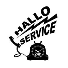 Wall Mural - Hello Service
