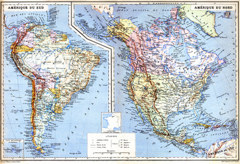 The map of North America