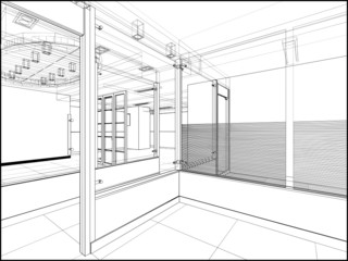 Abstract Interior Construction Vector 222