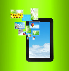 touch pad PC with streaming images