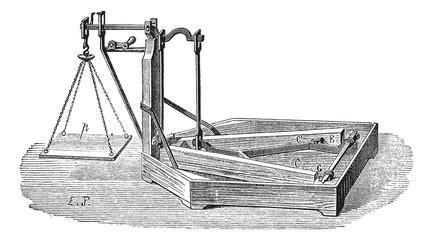 Quintenz scale vintage engraving