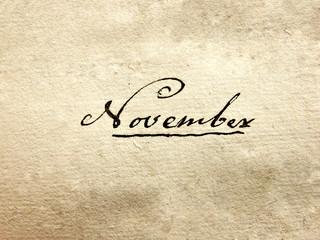 100 years old handwritten november