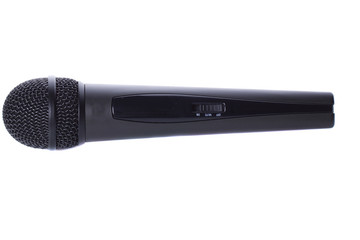 Black wireless microphone
