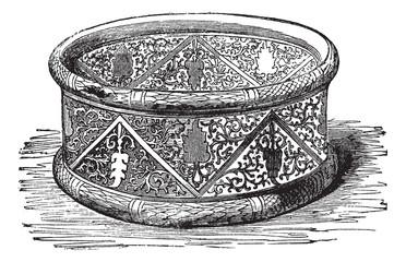 Gallic Bracelet vintage engraving