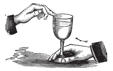 How to produce sound resonance with a wet finger on a wine glass
