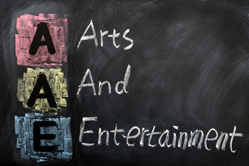 Acronym of AAE for Arts and Entertainment