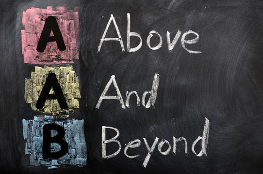 Acronym of AAB for Above and Beyond
