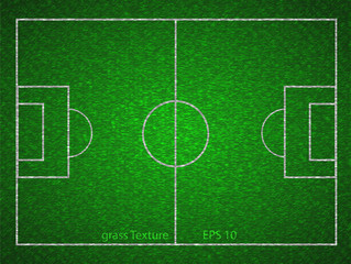 Vector soccer field