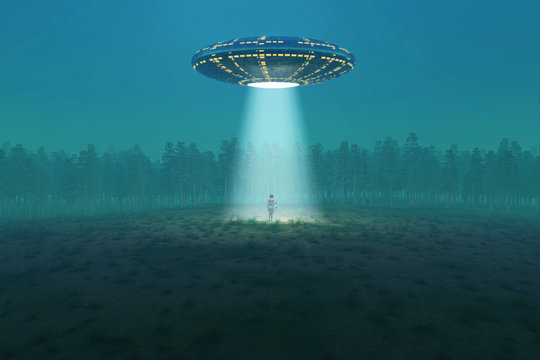 flying saucer arrived