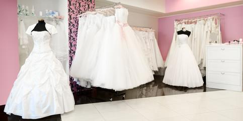 Wedding store. Shallow depth of field