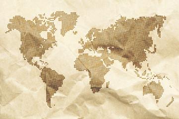 Dot World old style map background