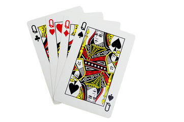 Quads of queen for poker