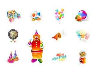 0503 Realistic Party Time Icons