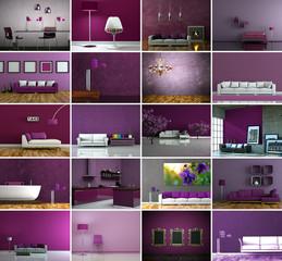 Bildersammlung - 20 Innendesign Bilder lila