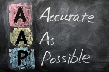 Fototapeten Affe Acronym of AAP for Accurate as Possible