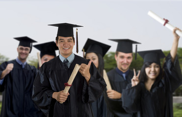 Proud University graduate
