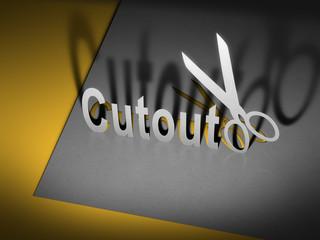 paper cutout scissors
