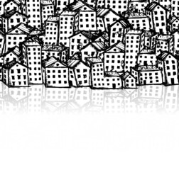 City sketch, seamless background for your design