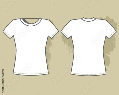 White t-shirt template\
