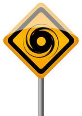 Hurricane vector sign
