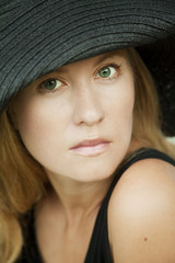elegance woman with hat