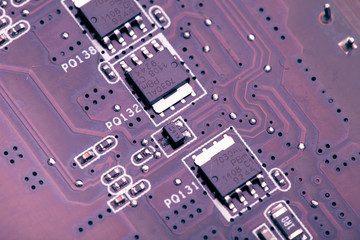 purple printed circuit board