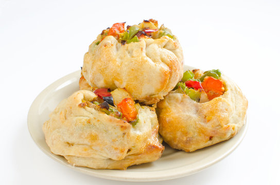 Knishes with vegetables (Jewish pastry)