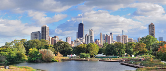 Wall Mural - Chicago skyline