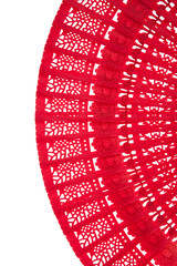 Wooden red fan