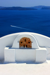 Fototapete - Santorin - terrasse