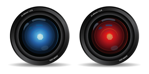 set of two camera lens