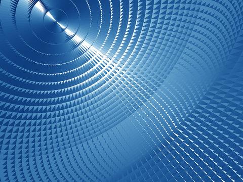 Blue Metallic Screen
