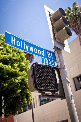 Canvas Prints Hollywood boulevard sign