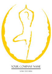 Fototapete - Yoga Logo 1